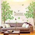 Colorfulworld @xXXL ! grand autocollant mural motif arbre vert de 6 voies, sticker mural 170 cm (h) graz design sticker mural décoratif pour chambre d'enfant de la marque colorfulworld image 2 produit