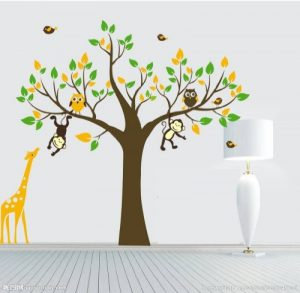 Colorfulworld ® xXXL! singe &motif girafe pour jouer sur un arbre sticker mural en pVC pour décoration de chambre d'enfant motif cadeau 180 cm (grand format) de la marque colorfulworld image 0 produit