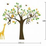 Colorfulworld ® xXXL! singe &motif girafe pour jouer sur un arbre sticker mural en pVC pour décoration de chambre d'enfant motif cadeau 180 cm (grand format) de la marque colorfulworld image 2 produit