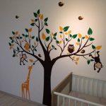 Colorfulworld ® xXXL! singe &motif girafe pour jouer sur un arbre sticker mural en pVC pour décoration de chambre d'enfant motif cadeau 180 cm (grand format) de la marque colorfulworld image 3 produit