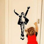 Creative Danse Michael Jackson Stickers Muraux Pour Chambres D'enfants Garçon Fille Fans Décor À La Maison Vinyle Stickers Musique Beau Cadeau Affiches 60 * 115 cm de la marque wsxwga image 1 produit