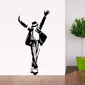 Creative Danse Michael Jackson Stickers Muraux Pour Chambres D'enfants Garçon Fille Fans Décor À La Maison Vinyle Stickers Musique Beau Cadeau Affiches 60 * 115 cm de la marque wsxwga image 0 produit