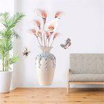Creative Salon Couloir Simulation Vase Fleur Stickers Muraux/Auto-Adhésif Fleur Décoratif Stickers Muraux/Salon Escalier Autocollants Muraux, 70 * 110 Cm de la marque XJKLFJSIU-Wall Sticker image 1 produit