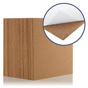 Dalles en liège naturel 300x 300mm (4MM d'épaisseur) (Autocollant) pour sols/murs (lot de 100) de la marque Boulder Developments image 0 produit