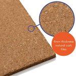 Dalles en liège naturel 300x 300mm (4MM d'épaisseur) (Autocollant) pour sols/murs (lot de 100) de la marque Boulder Developments image 2 produit
