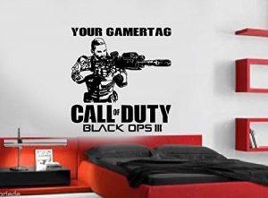 DC Call of Duty Black Ops 3Style PS4Xbox Teen Salle Art Mural en Vinyle Autocollant de la marque DC image 0 produit