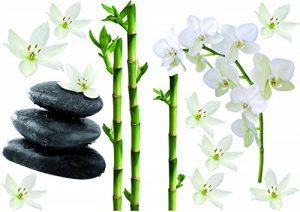 Décoration adhésive 157170 Bambous/Orchidées et Galets Polyvinyle, Multicolore, 21 x 0,1 x 29,6 cm de la marque Décoration adhésive image 0 produit