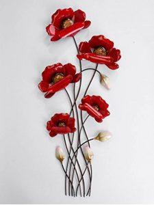 Décoration murale de 66cm Branches de coquelicots rouges - Article 673473 de la marque Formano image 0 produit
