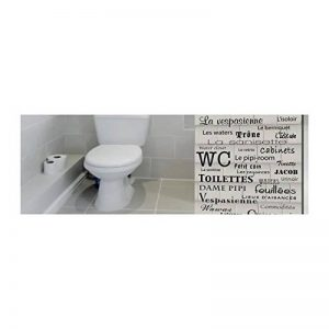 Décorations murales adhésives 48*68 Les WC, Polyvinyle, Noir, 48 x 0.1 x 68 cm de la marque Décorations murales adhésives 48*68 image 0 produit