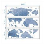 decalmile Carte du Monde Stickers Muraux Moderne Bleu Autocollants Decoration Murale pour Chambre Enfants Bébé Garderie Salon (131 x 75 cm) de la marque decalmile image 3 produit