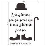 decalmile Charlie Chaplin Stickers Muraux Citation et Lettres Un Giorno Senza Un Sorriso è Un Giorno Perso Amovible Autocollant Stickers pour Chambre Salon de la marque decalmile image 3 produit