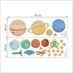 decalmile des Planètes dans l'espace Stickers Muraux Enfants Autocollant Décoration Murale pour Chambre Enfants Bébé Salon de la marque decalmile image 2 produit