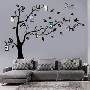 decalmile Grand Sticker Mural Arbre Généalogique avec Cadres Photo Autocollant Muraux Chambre Salon Décoration Murale (Noir) de la marque decalmile image 0 produit