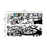 decalmile Grand Sticker Mural Arbre Généalogique avec Cadres Photo Autocollant Muraux Chambre Salon Décoration Murale (Noir) de la marque decalmile image 4 produit