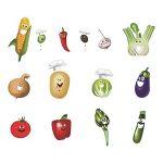 decalmile Légumes Cuisine Stickers Muraux Drôles Maïs Chili Fruits Amovible Vinyle Stickers Muraux pour Cuisine Salle À Manger de la marque decalmile image 1 produit