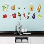 decalmile Légumes Cuisine Stickers Muraux Drôles Maïs Chili Fruits Amovible Vinyle Stickers Muraux pour Cuisine Salle À Manger de la marque decalmile image 3 produit