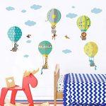 decalmile Montgolfière Animaux Stickers Muraux Girafe Zebra Amovibles Autocollants Chambre Enfants Bébé Garderie Salon Décoration Murale de la marque decalmile image 2 produit