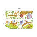 decalmile Sticker Muraux Animaux de la Jungle Autocollant Mural Arbre Lion Girafe Éléphant Chambre Enfants Bébé Salon Décoration Murale de la marque decalmile image 4 produit