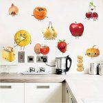 decalmile Stickers Cuisine Aliments Emoji Autocollant Décoration Murale Amovible DIY La Cuisine Salle A Manger Stickers Muraux Deco de la marque decalmile image 1 produit