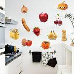 decalmile Stickers Cuisine Aliments Emoji Autocollant Décoration Murale Amovible DIY La Cuisine Salle A Manger Stickers Muraux Deco de la marque decalmile image 2 produit