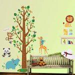 decalmile Stickers Muraux Animaux Arbre Hauteur Mesure Tableau Autocollants Mural Chambre Enfants Bébé Salon Décoration Murale de la marque decalmile image 1 produit
