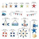 decalmile Stickers Muraux Compas Ancre Poisson Mer Coquillage Autocollant Décoration Murale pour Chambre Enfants Bébé Salon de la marque decalmile image 4 produit