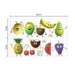 decalmile Stickers Muraux Cuisine Fruit Autocollant Décoratifs Banane Citron Mangue Emoji Décoration Murale Frigo Cuisine Salle à Manger de la marque decalmile image 4 produit