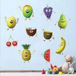 decalmile Stickers Muraux Cuisine Fruit Autocollant Décoratifs Banane Citron Mangue Emoji Décoration Murale Frigo Cuisine Salle à Manger de la marque decalmile image 1 produit