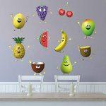 decalmile Stickers Muraux Cuisine Fruit Autocollant Décoratifs Banane Citron Mangue Emoji Décoration Murale Frigo Cuisine Salle à Manger de la marque decalmile image 2 produit