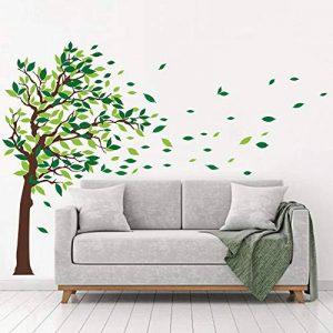 decalmile Stickers Muraux Geant Arbre Autocollant Mural d'arbre Feuilles Salon Chambre Enfant Décor Maison de la marque decalmile image 0 produit