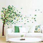 decalmile Stickers Muraux Geant Arbre Autocollant Mural d'arbre Feuilles Salon Chambre Enfant Décor Maison de la marque decalmile image 2 produit