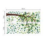 decalmile Stickers Muraux Geant Arbre Autocollant Mural d'arbre Feuilles Salon Chambre Enfant Décor Maison de la marque decalmile image 4 produit