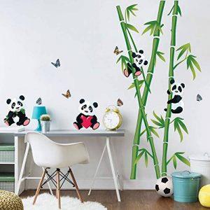 decalmile Stickers Muraux Panda et Bambou Autocollant Décoratifs Chambre Bébé Décoration Murale Chambre Enfant Garderie Salon de la marque decalmile image 0 produit