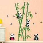 decalmile Stickers Muraux Panda et Bambou Autocollant Décoratifs Chambre Bébé Décoration Murale Chambre Enfant Garderie Salon de la marque decalmile image 1 produit