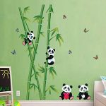 decalmile Stickers Muraux Panda et Bambou Autocollant Décoratifs Chambre Bébé Décoration Murale Chambre Enfant Garderie Salon de la marque decalmile image 2 produit