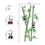 decalmile Stickers Muraux Panda et Bambou Autocollant Décoratifs Chambre Bébé Décoration Murale Chambre Enfant Garderie Salon de la marque decalmile image 4 produit