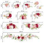 decalmile Stickers Muraux Rose Romantique Autocollant Mural Fleur Chambre Salon Mur Art Décor de la marque decalmile image 4 produit