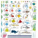 decalmile Stickers Muraux sous la Mer Autocollant Décoratifs Océan Monde sous Marin Poisson Décoration Murale Chambre Enfants Bébé Pépinière Salle de Bain de la marque decalmile image 4 produit