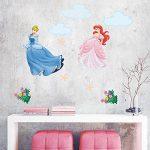 decalmile Stickers Princesse Amovible DIY Autocollant Stickers Muraux pour Bébé Fille Chambre Enfants Pépinière de la marque decalmile image 1 produit