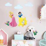 decalmile Stickers Princesse Amovible DIY Autocollant Stickers Muraux pour Bébé Fille Chambre Enfants Pépinière de la marque decalmile image 3 produit