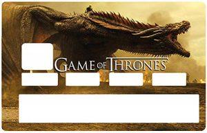 Deco-idees Sticker pour Carte bancaire, Game of Thrones, Edition limitée 300 ex. - Différenciez et décorez Votre Carte bancaire Suivant Vos Envies!! Facile à Poser, sans Bulle de la marque Deco-idees image 0 produit