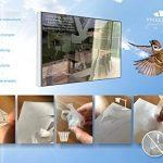 Decooo.be Autocollants Anti-Collision pour Oiseaux - Haute résistance à la Pluie, Gel, UV's (Set de 17 Silhouettes d'oiseaux Sablés-dépolis-translucides) de la marque Decooo-be image 4 produit