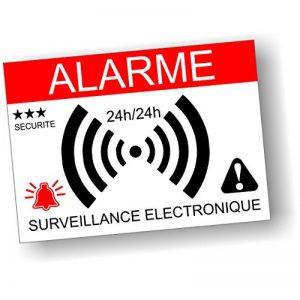 Decooo.be - Autocollants dissuasifs Alarme - Système électronique - Lot de 12 - Dimensions 7,4 x 5,2 cm de la marque Decooo-be image 0 produit