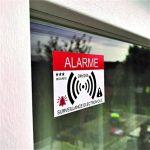 Decooo.be - Autocollants dissuasifs Alarme - Système électronique - Lot de 12 - Dimensions 7,4 x 5,2 cm de la marque Decooo-be image 4 produit