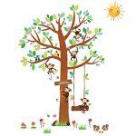 Decowall DA-1401P1402 8 Petits Singes Arboricoles et Ruban Mesureur Autocollants Muraux Mural Stickers Chambre Enfants Bébé Garderie Salon de la marque Decowall image 4 produit