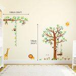 Decowall DA-1401P1402 8 Petits Singes Arboricoles et Ruban Mesureur Autocollants Muraux Mural Stickers Chambre Enfants Bébé Garderie Salon de la marque Decowall image 3 produit