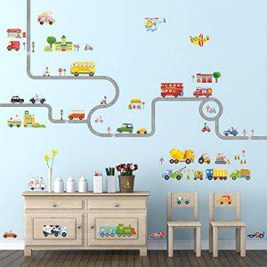 Decowall DA-1404P1405 La Route & Les Transports Autocollants Muraux Mural Stickers Chambre Enfants Bébé Garderie Salon de la marque Decowall image 0 produit