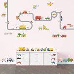Decowall DA-1404P1405 La Route & Les Transports Autocollants Muraux Mural Stickers Chambre Enfants Bébé Garderie Salon de la marque Decowall image 2 produit