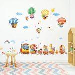 DECOWALL DA-1406 Train Animaux & Montgolfières Autocollants Muraux Mural Stickers Chambre Enfants Bébé Garderie Salon de la marque Decowall image 1 produit