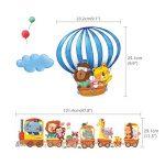 DECOWALL DA-1406 Train Animaux & Montgolfières Autocollants Muraux Mural Stickers Chambre Enfants Bébé Garderie Salon de la marque Decowall image 4 produit